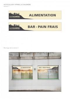 Laiterie Alimentation La Chaumière  - Autocollants vitrine - Sorens / FR