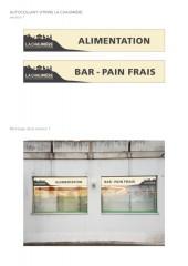 Laiterie Alimentation La Chaumière  - Autocollants vitrine
