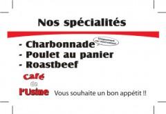Café de l'Usine, verso, Vuadens / FR