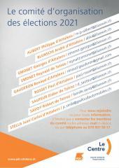 Elections communales 2021, flyers Le Centre Attalens, verso / FR