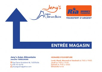 Jeny's Asian Alimentaire - Panneau
