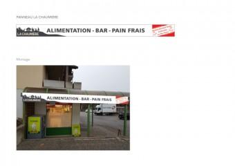 Laiterie Alimentation La Chaumière - Vitrine - Sorens / FR
